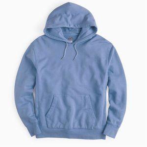 J. Crew Light Blue Garment Dyed Hoodie. L